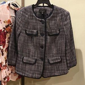Jackets & Blazers - NWT- Talbots Navy Tweed Blazer/Jacket- 8P